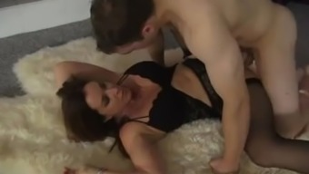 Stepmom Fucks While Dad Is Sleeping