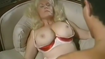 Mature pale skin busty majestic woman licked and boned on the couch