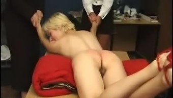Held down and spanked hard