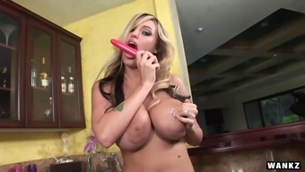 Memphis Monroe is the type of chick who loves all of this attention as she gets naughty in her kitchen