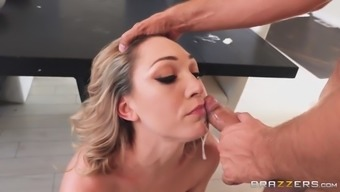 lily labeau gets mouth fucked in front of her husband