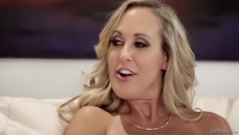 Brandi Love and Nina North get naked for a shag with a hot guy