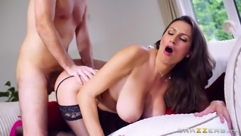 sensual jane gets fucked doggie as her enormous natural tits bounces
