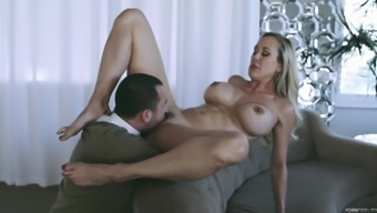 Brandi Love seduced by a hadsome lover for a great fuck