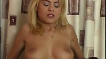 virgin melissa rides a dick and can't stop doing this until he cums