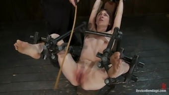 Seda gets her ass toyed to orgasm in an awesome BDSM scene