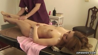 Awesome erotic massage performed for oiled sweetheart Tiara Kujyo