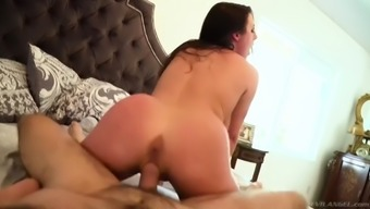 aussie milf angela white shakes her giant tits while riding him