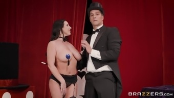 Angela White uses her sexual skills to make a fellow cum