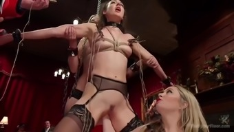 outrageous bdsm orgy with fisting, anal debauchery and ocean of orgasms