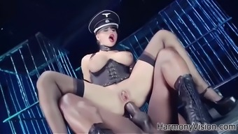 ravishing mistress cathy heaven has threesome with her hunky slaves