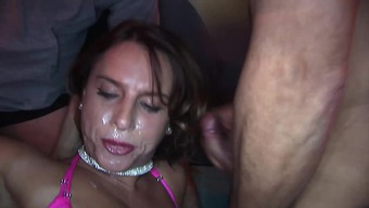 Busty sexy susi in her first extreme double penetration gangbang fuck party orgy