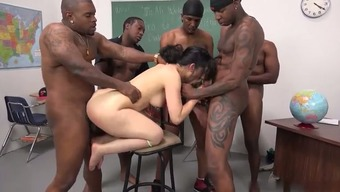 Rough all black gangbang for Pakistani porn star Nadia Ali