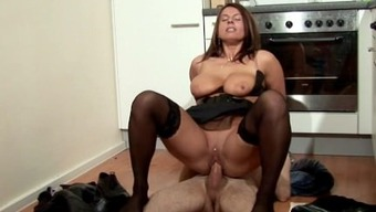 Step-Son Seduce MILF Mom to Fuck and Cum