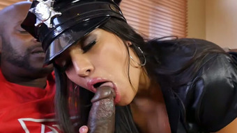 Buxom police officer Mercedes Carrera is a bit of a size queen