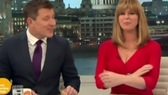 Kate Garraway - Hot Red Dress Showing Cleavage!