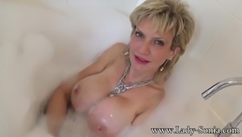 Sonia wants you to cum on her tits while she takes a bath