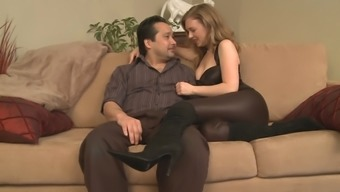 Wife pegging small-dicked husband in the ass