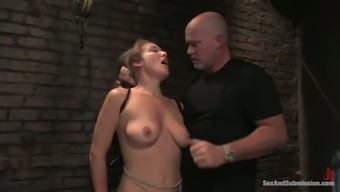 Nothing gives more pleasure to Jade except for bondage penetration