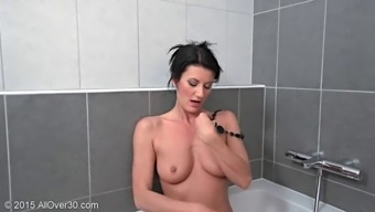 Hot and horny cock starving milf fingers her fuck holes