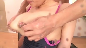 play with big milky tits