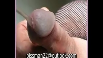 Male stripping pissing and cumming hard. Striptease man golden shower sperm