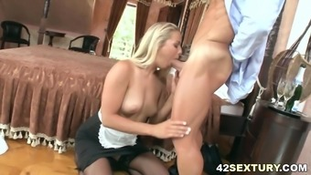 Muscular guy assfucked the maid Christen Courtney