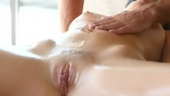 PASSION-HD Massage fuck and facial with busty Alexis Adams