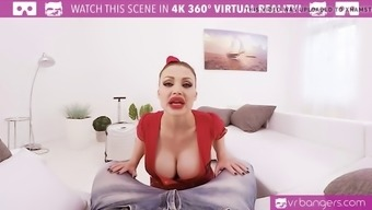 vr porn-busty aletta ocean get banged and titty fuck with a