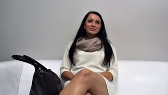 Nice Brunette With Good Tits Banged At The Casting