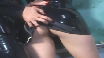 Latex teacher punishes a misbehaving student with pain
