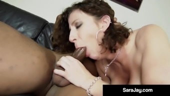 Horny Hot Milf Sara Jay Gets A Load of Cum In Her Hot Pussy!