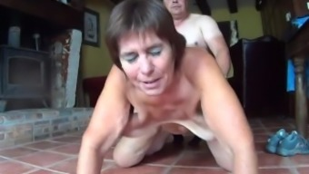 Mature with saggy boobs