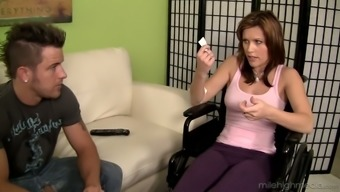Talkative debtor Izzy Ryder gets poked from behind and missionary as well