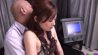 Keito Miyazawa loves the full dick in her furry cunt