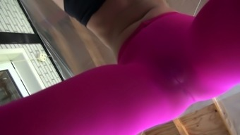 Sport blonde Candee Licious hooks up with her coach right at the gym