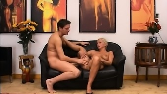 Blonde mature having pussy fisted hard