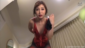 Playing with a stiff dick is enough to satisfy Sasaki Aki