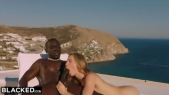 BLACKED Blonde tourist fucked in the ass by black local