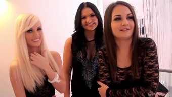 Hardcore group sex with Candee Licious and Anina Silk