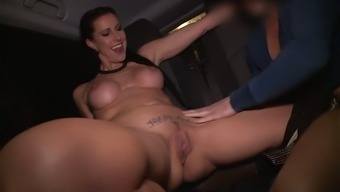 Just super hot German slut Texas Patti rides stiff dick on top