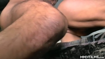 Mature ugly hoe with saggy boobs gives quite good blowjob