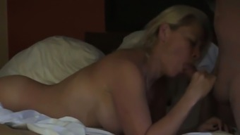 Blonde wife finally gets to be shared between two men