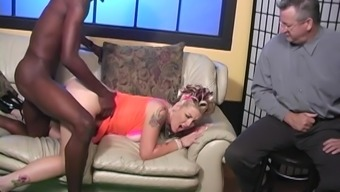 Two black dicks for salacious Candy Monroe who is insatiable