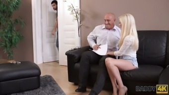 Lewd BF has no fucking idea his GF Candee Licious loves to work on old cock