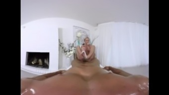 Hot anal massage on the couch