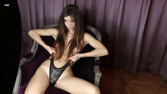 Amazing beauty Brit performs her exciting solo video