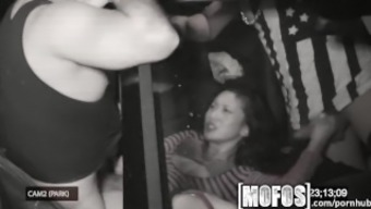 Mofos - Threesome with Alina LI is caught on camera