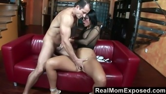 Just really wild MILFie harlot Simone Peach rides strong cock on top