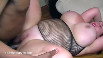 British Busty with a thick black cock inside her